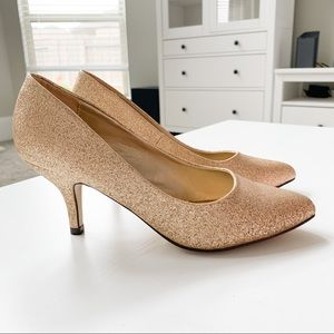 Lasonia Gold Glitter Heels M2643